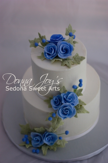Smooth Buttercream with handmade sugar flowers